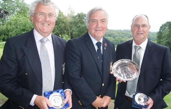 Richard Mallard- Chorlton cum Hardy GC, Mike Jones, County President & Dave Nelson